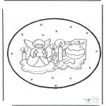 Kerst Kleurplaten - Kerst prikkaart 23