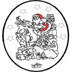 Kerst Kleurplaten - Kerst prikkaart 24