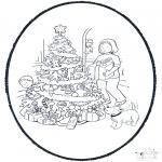 Knutselen Prikkaarten - Kerst Prikplaat 1
