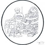 Knutselen Prikkaarten - Kerst Prikplaat 2