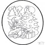 Knutselen Prikkaarten - Kerst Prikplaat 3