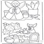 Kerst Kleurplaten - Kerst stukjes