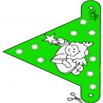 Kerst Kleurplaten - Kerst vlaggetje 10