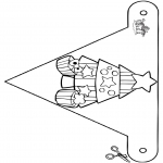 Kerst Kleurplaten - Kerst vlaggetje 8