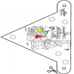 Kerst Kleurplaten - Kerst vlaggetje 9