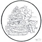 Knutselen Prikkaarten - Kerstboom versieren