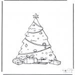 Kerst Kleurplaten - Kerstboom versiert