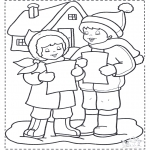 Kerst Kleurplaten - Kerstlied zingen