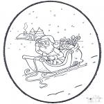 Knutselen Prikkaarten - Kerstman Prik kaart