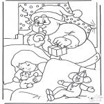 Kerst Kleurplaten - Kerstman sluipt
