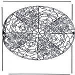 Mandala Kleurplaten - Kerstmannen Mandala