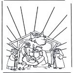 Kleurplaten Bijbel - Kerststal 1