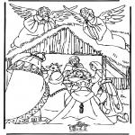 Kleurplaten Bijbel - Kerststal 3