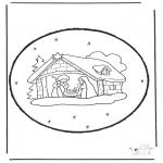Knutselen Prikkaarten - Kerststal knutselen