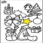 Kerst Kleurplaten - Kerstversiering 4