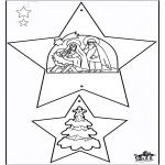 Kerst Kleurplaten - Kerstversiering Bijbel 1