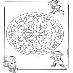 Mandala Kleurplaten - Kinder geomandala 1