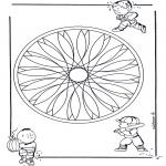Mandala Kleurplaten - Kinder geomandala 2