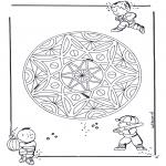 Mandala Kleurplaten - Kinder geomandala 3