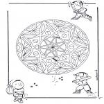Mandala Kleurplaten - Kinder Geomandala