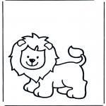 Kinderkleurplaten - Kinder leeuw 1