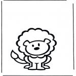 Kinderkleurplaten - Kinder leeuw 2