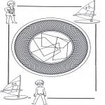 Mandala Kleurplaten - Kinder Mandala 25