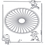 Mandala Kleurplaten - Kinder mandala 26