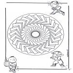 Mandala Kleurplaten - Kinder Mandala 27