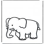 Kinderkleurplaten - Kinder olifant