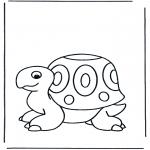 Kinderkleurplaten - Kinder schildpad