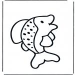 Kinderkleurplaten - Kinder vis