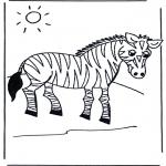 Kinderkleurplaten - Kinder zebra