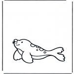 Kinderkleurplaten - Kinder zeehond