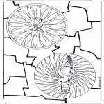 Mandala Kleurplaten - Kinderduomandala