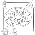 Mandala Kleurplaten - Kindermandala 1