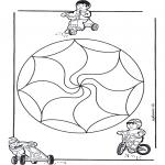 Mandala Kleurplaten - Kindermandala 14