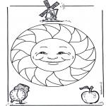 Mandala Kleurplaten - Kindermandala 15