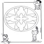 Mandala Kleurplaten - Kindermandala 16