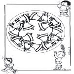 Mandala Kleurplaten - Kindermandala 17