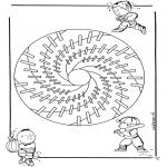 Mandala Kleurplaten - Kindermandala 18