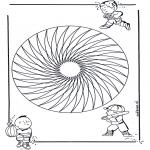 Mandala Kleurplaten - Kindermandala 20