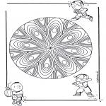 Mandala Kleurplaten - Kindermandala 21