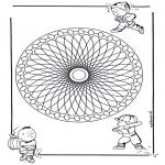 Mandala Kleurplaten - Kindermandala 23