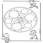 Mandala Kleurplaten - Kindermandala 24