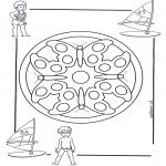Mandala Kleurplaten - Kindermandala 4
