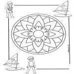 Mandala Kleurplaten - Kindermandala 5