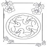 Mandala Kleurplaten - Kindermandala 6