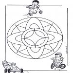 Mandala Kleurplaten - Kindermandala 7