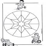 Mandala Kleurplaten - Kindermandala 9